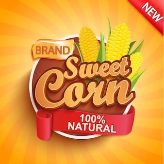 Этикетка свежей и сладкой кукурузы