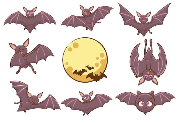 Набор векторных летучих мышей