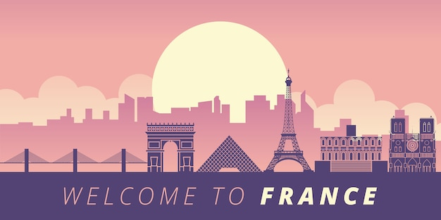フランスのランドマークの図