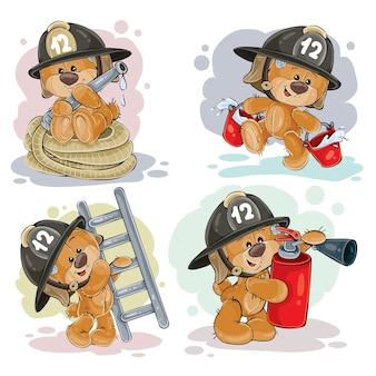 Плюшевый медведь со спасательным оборудованием