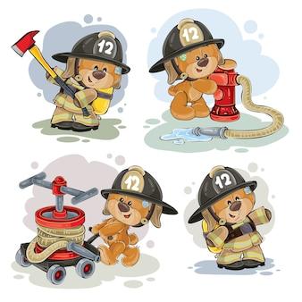 テディベアレスキュー装置付き消防士