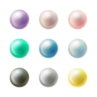 現実的なカラフルな空白の丸いボタン