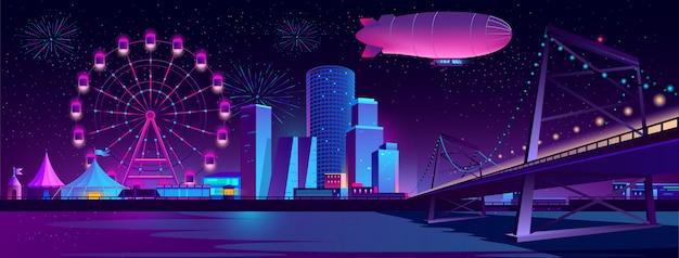夜の街のコンセプトの背景