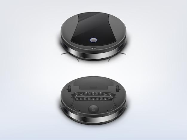 Круглый робот-пылесос сверху