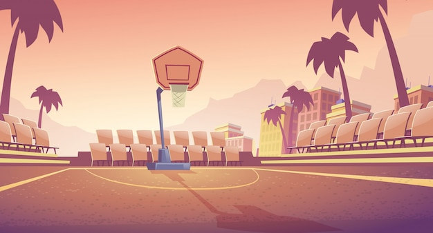 ストリートバスケットボールコート