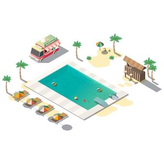 Роскошный курортный бассейн