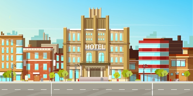 近代的な都市の建物