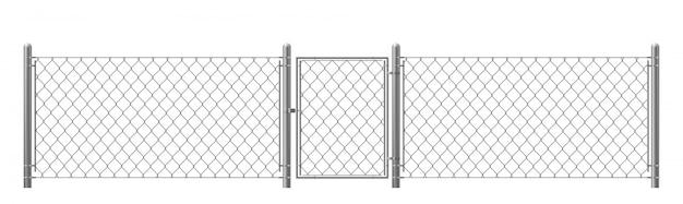 Ограда из рабицы с калиткой