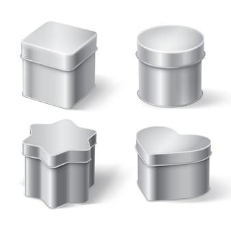 Металлические жестяные коробки для чая, кофе или конфет