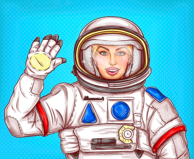 ベクトル図宇宙飛行士