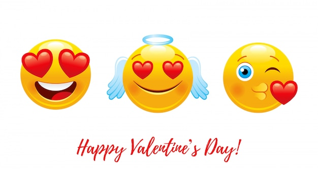心愛絵文字で漫画幸せなバレンタインデー。