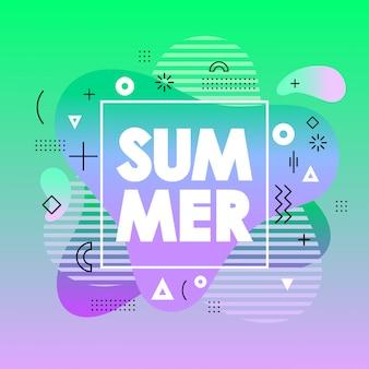 Абстрактная летняя карта с зеленым градиентом фона