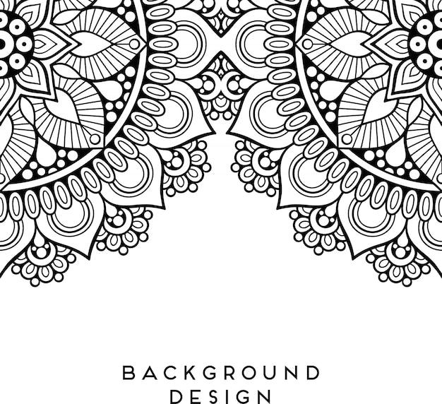 Роскошная декоративная иллюстрация мандалы
