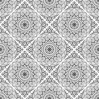 Роскошный декоративный фон мандалы