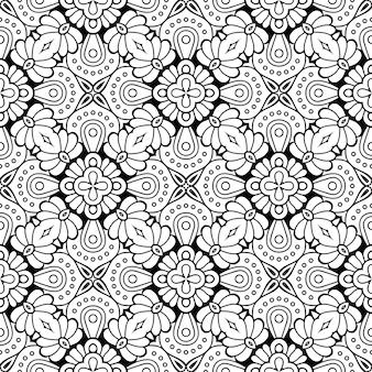美しいインドの伝統的なシームレスパターン