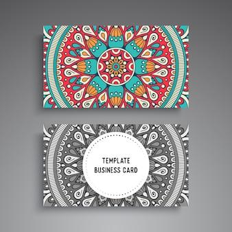 Мандала декоративный шаблон визитной карточки