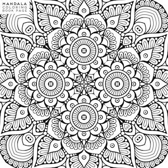 Подробная иллюстрация декоративной мандалы
