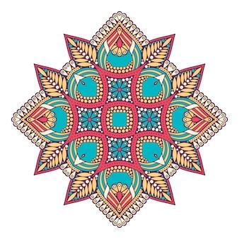 装飾的な幾何学的なタイル図