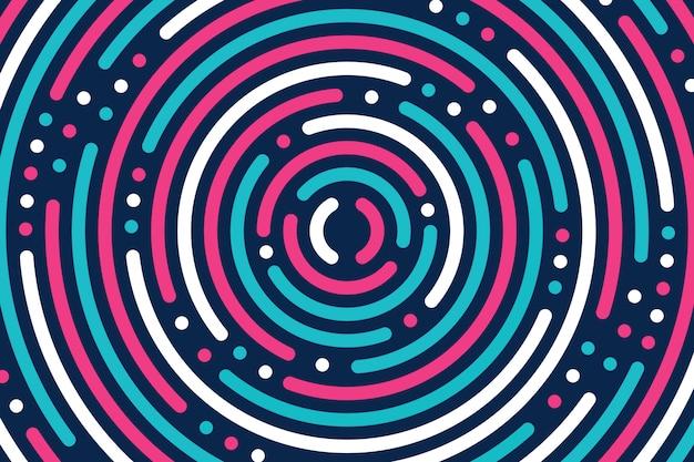Абстрактный фон плоские красочные круги