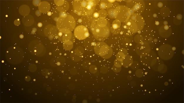 抽象的な黄金ボケ背景