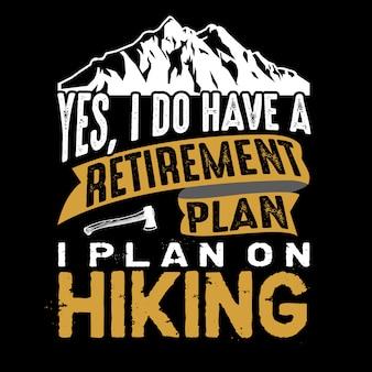 はい、私は退職プランを持っています