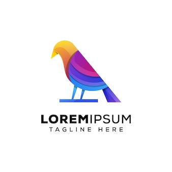 Красочный логотип птицы