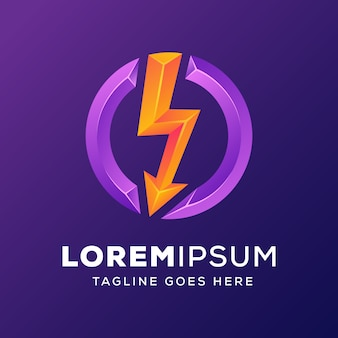 Сила энергии с логотипом стрелки
