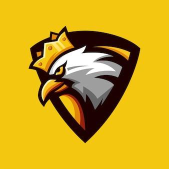 Орел король логотип вектор