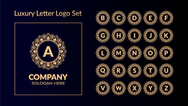 ゴールデンスタイル入り高級文字ロゴ