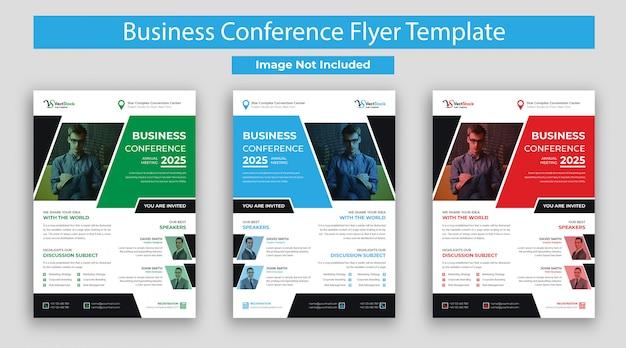 Флаер бизнес-конференции с различными цветами
