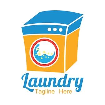あなたのスローガンのためのテキストスペース付き洗濯ロゴ
