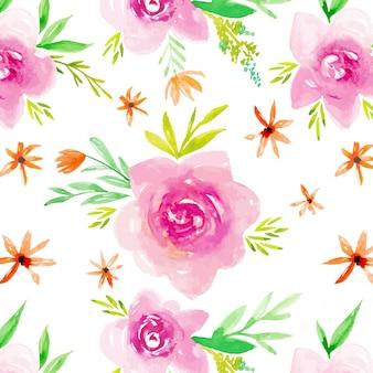 Розовый сад роз бесшовный фон