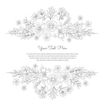 花の結婚式の装飾フレーム