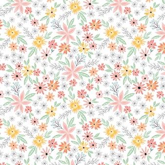 夏の花の花のシームレスパターン