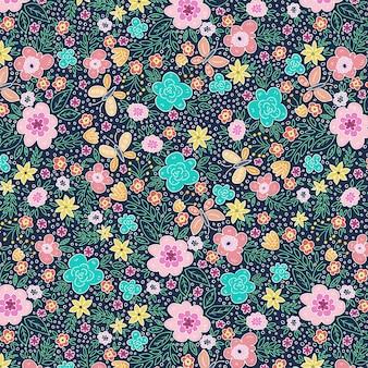 蝶と春のパターン