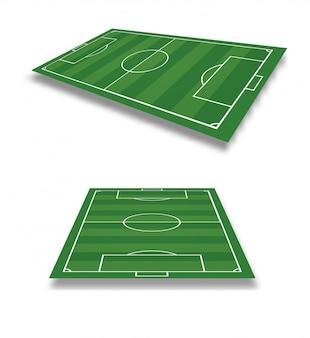 Векторная иллюстрация футбольного поля.