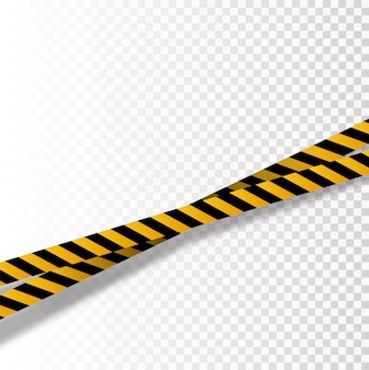 黒と黄色のストライプセット。警告テープ。危険標識。注意、バリケードテープ、
