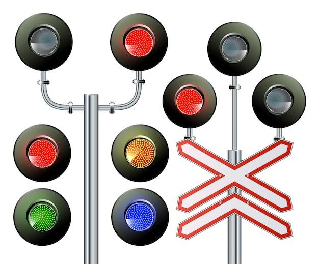 Семафор сигнальный трафик.