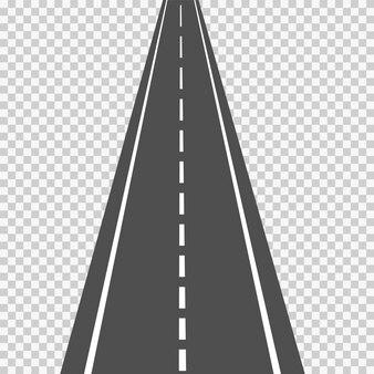 アスファルト道路、規模で、視点で、分離