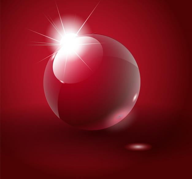 光沢のある赤いボール