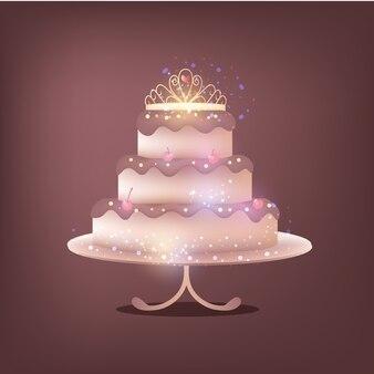 高級ケーキのデザイン