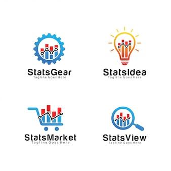 Набор из бухгалтерского учета и финансов логотипа шаблона