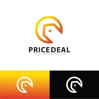 Шаблон логотипа ценовой сделки