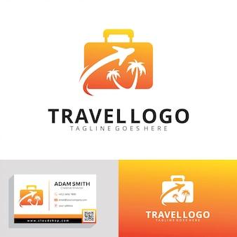 旅行代理店のロゴのテンプレート