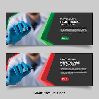 Шаблоны рекламных баннеров для здравоохранения и медицины