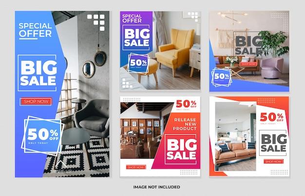 Социальная сеть мебели и коллекция шаблонов рассказов