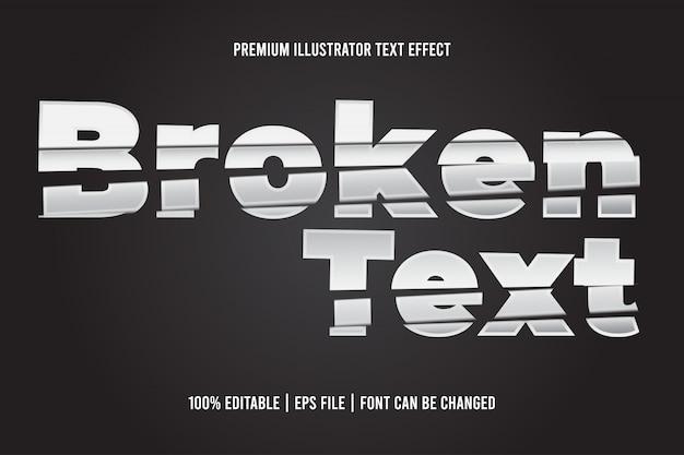 Сломанный текст редактируемый текстовый эффект