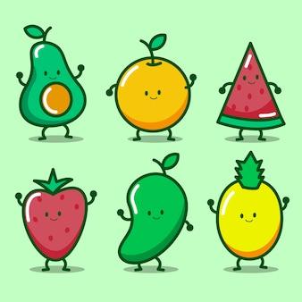 Милый фруктовый персонаж