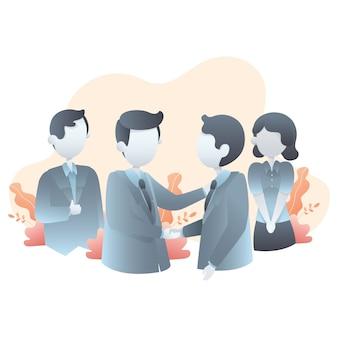 Иллюстрация бизнес сделок