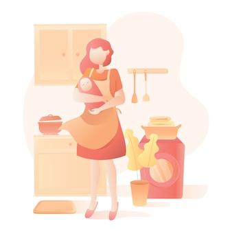 День матери иллюстрация